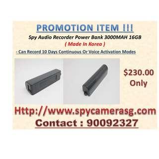Spy Recorder Audio 16GB