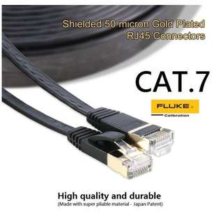 (3/5/10/20m) CAT7 Flat Gigabyte Ethernet/Lan Cable
