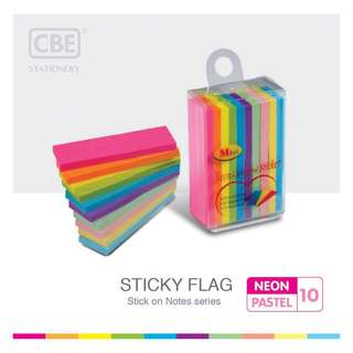 CBE 14044 MINI STICKY FLAG (50MMX15MM) 30 SHEETS X 10 COLORS