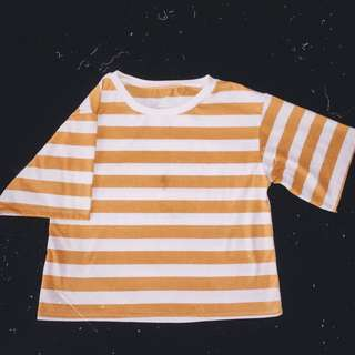 Oversized Mustard Stripes