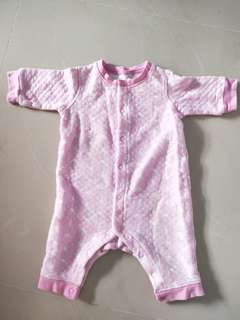 Uniqlo pink sleepsuit 3 to 6 months