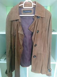 Winter full leather jacket zara