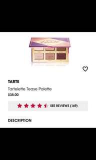 🚚 Tarte tartelette eyeshadow palette
