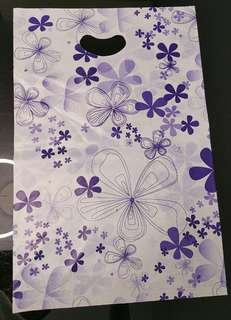 150 pcs Floral Print Plastic Carrier Bag