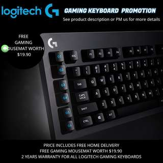 Logitech Gaming Keyboard Promotion