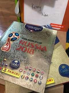 Panini World Cup 2018 金版硬皮貼紙簿連禮盒