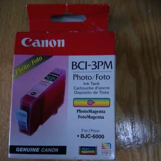 Canon BCI-3pm Photo Magenta Compatible Cartridge for BJC 3000, BJC 550, BJC 6000, BJC 6100  有盒40蚊 無盒20蚊