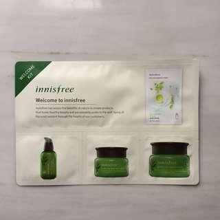 (NEW) 4-in-1 Innisfree Green tea sheet mask, serum, eye cream, cream