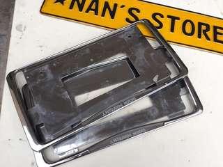 Mitsubishi chrome frame plate