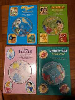 Hardcover Disney Books with CDs!!