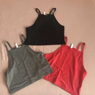 H&M crop top, small, all for 500