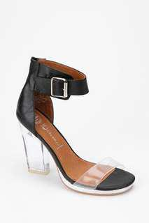 Jeffrey Campbell Soiree Clear Heeled Sandal US 8.5