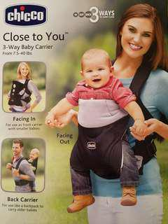 Chicco Close to you 3-way, Baby Carrier 揹帶 (全新)