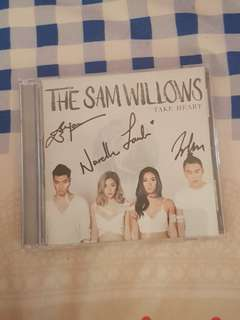 The Sam Willows autographed Take Heart album