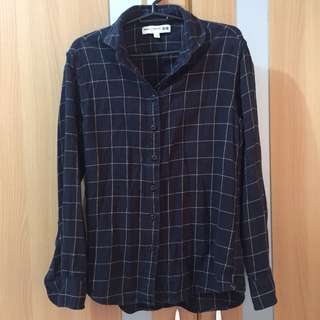 Uniqlo Ines De La Fressange flannel long sleeves