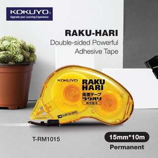 KOKUYO RAKU-HARI Double-sided Powerful Adhesive Tape (Permanent) - REFILLABLE