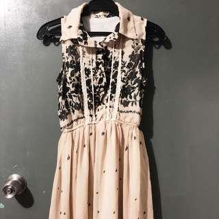 Collared Chiffon Dress