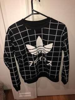 Hand printed Adidas jumper