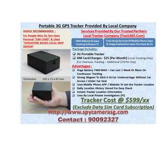 Gps Tracker With Sim Card Provided Uses By Private Investigator