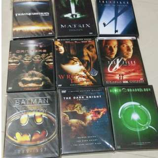 DVD collection Batman Aliens Predators Matrix Twister X-File etc