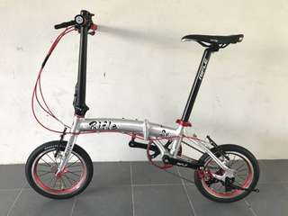 """Limited stock! Rifle Vintage Foldable bike/ foldi 14"""" (3 speed)(special design)(light weight)"""