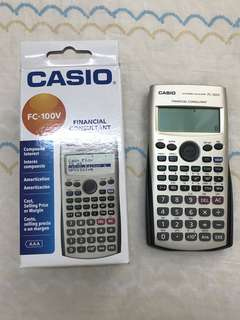 全新!! Casio financial calculator fc-100v