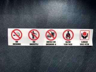 NO SMOKING 🚭/ NO FOOD 🥘 ETC STICKERS
