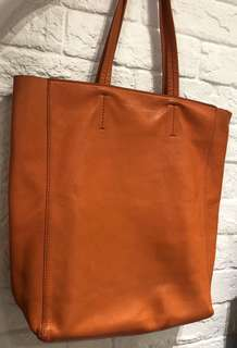 Celine Lambskin Leather Vertical Tote Bag