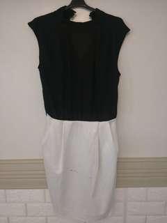 Mango Suit Monochrome Dress