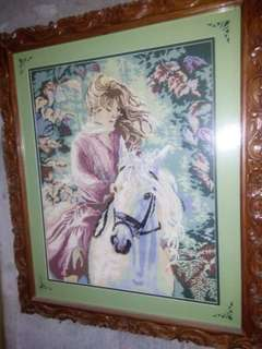 lady riding horse