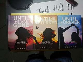 UNTIL TRILOGY BUNDLED BATCH 1 WITH SIGNED BY JONAXX