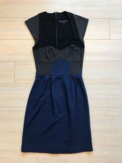 French Connection Work Suit Dress Bodycon Sweetheart