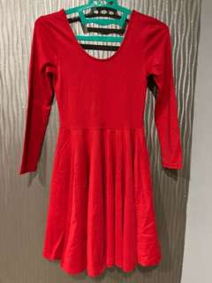 Bright Red Flare Dress