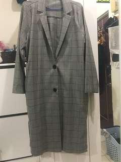 Boga Shop格紋西裝外套