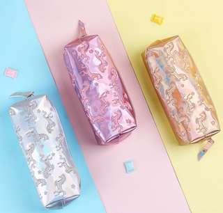 🚚 [PO] Metellic unicorn pencil case