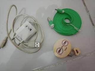 Kabel data, charger, card reader karakter