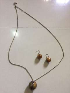 Collections: Set Stone Necklace and Earing