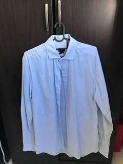 S> formal shirt (light blue)