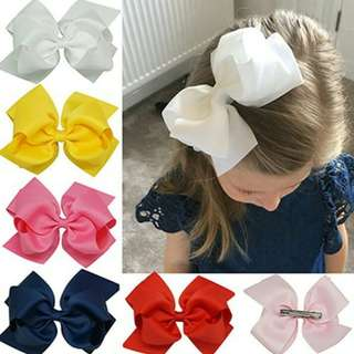 Large Double Layers Hairbow Hair Bow Grosgrain Ribbon Clip Hairpin