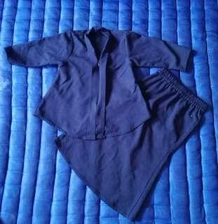 Kebaya Budak Navy Blue 2y