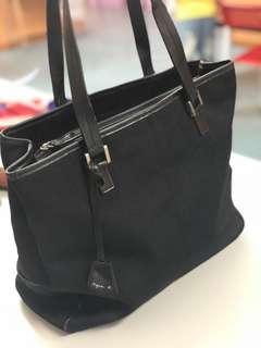 Agnes b canvas shoulder bag