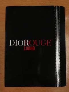 Dior Rouge Liquid Lipstick Sample Card 4 colors + applicator 614/979/999/162