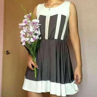 Gray/White korean inspired dress