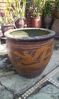 Antique Dragon Pot