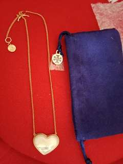 Authentic Tory Burch mother of pearl necklace