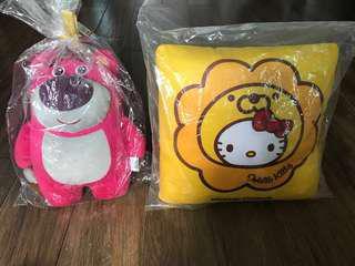 Toy Story, mister donut hello kitty 毛公仔cushion