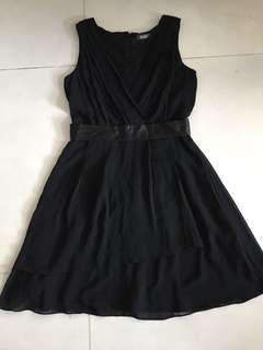 黑色連身裙 dress skirt one piece 裙 衫 walkout topshop forever21 h m Zara