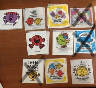 贴纸 贴纸 MR Men Little Miss stickers 貼紙 @$3 (4張包郵)