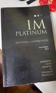 IM Platinum 1st Edition