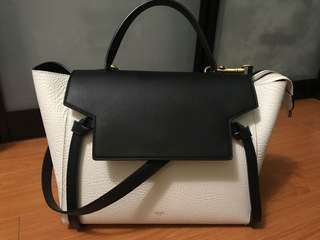 Celine mini belt bag two tone two texture